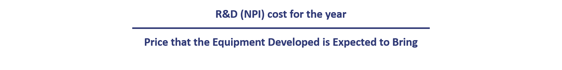 calculate cost of R&D vs financial gain